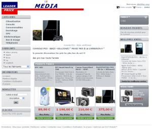 Page d'accueil du site leaderpricemedia.com (le 25 mars 2009)
