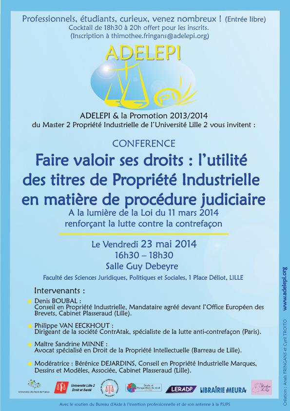Codes et lois actualit juridique et l gislative conf rence adelapi le 23 mai 2014 faire - Office de la propriete intellectuelle ...
